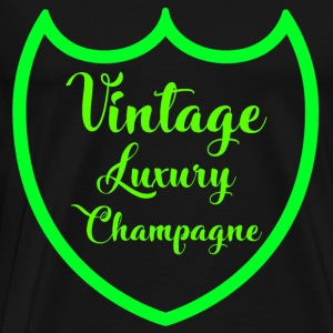 Luxury Luxury Design Perignon Champagne Green - Men's Premium T-Shirt