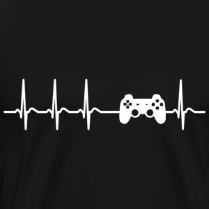 Heart beat gamer player computer cool gift - Men's Premium T-Shirt
