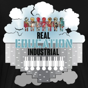 Utbildning vs Real Industrial Education - Premium-T-shirt herr
