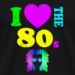 I Love The 80s Camiseta Neon Punk Rocker Glowing