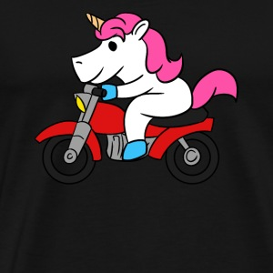 Unicorn Riding Motorcycle T-Shirt Funny Magical