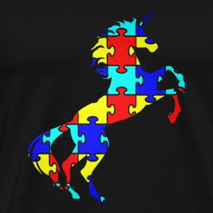 Unicorn Autism Puzzle Symbol Camiseta Magical