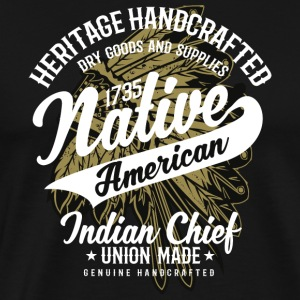 Native American Indian Chief - Mannen Premium T-shirt