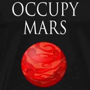 Occupy maart Space - Mannen Premium T-shirt