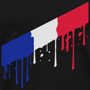 oblique drop blob stamp 3 colors france nation blu