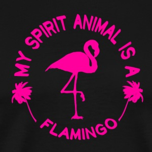 Flamingo Min Ånd Animal - Premium T-skjorte for menn