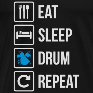 Eat Sleep Drum Gentag - Herre premium T-shirt