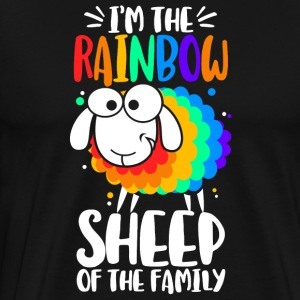 I´m the rainbow sheep of the family - Männer Premium T-Shirt