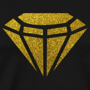 Golden Diamond - Goldener Diamant Glitzer Gold - Männer Premium T-Shirt