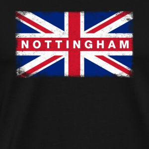Nottingham Shirt Vintage United Kingdom Flag - Men's Premium T-Shirt