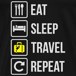 Eat Sleep Travel Repeat - Men's Premium T-Shirt