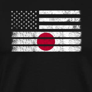 Japanese American Flag - USA Japan Shirt - Men's Premium T-Shirt