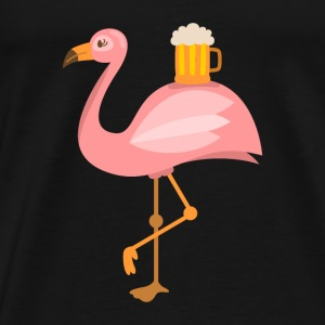 Beer and flamingo