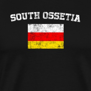 South Ossetia Flag Shirt - Vintage South Ossetia T - Men's Premium T-Shirt