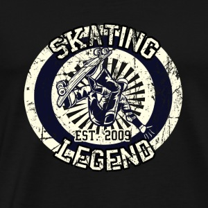 Skateboarder Skating Legend Board 2009 - Men's Premium T-Shirt