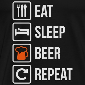 Eat Sleep Beer Repeat - Men's Premium T-Shirt