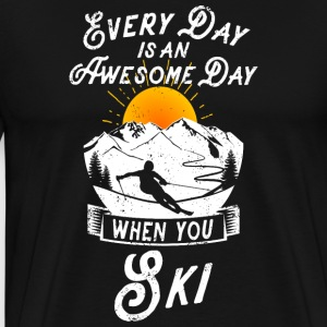 Every day is an awesome day when you ski - Männer Premium T-Shirt