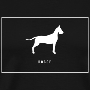 Dogge lettering in the frame - Men's Premium T-Shirt