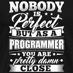 Grappig Developer Programmeur Shirt Niemand Perfect - Mannen Premium T-shirt