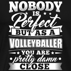 Rolig volleybollspelare skjorta Nobody Perfect - Premium-T-shirt herr