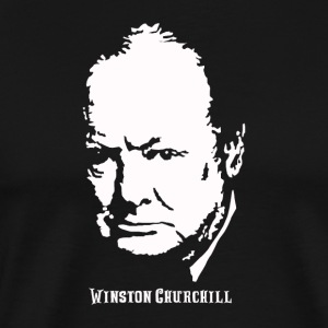 Winston Churchill Portrait - T-shirt Premium Homme