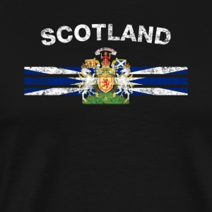Scottish Flag Shirt - Scottish Emblem & Scotland F - Men's Premium T-Shirt