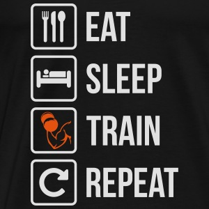 Eat Sleep Gym Repeat Fitness - Männer Premium T-Shirt