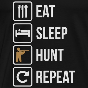 Eat Sleep Hunt Guns Répéter - T-shirt Premium Homme
