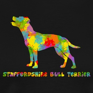 Staffie Multicolore - Men's Premium T-Shirt