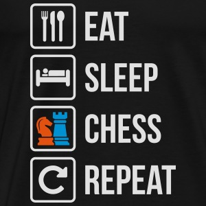 Eat Sleep Chess Repeat - Männer Premium T-Shirt
