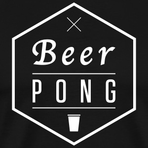 Beer Pong Hexagon - Premium-T-shirt herr