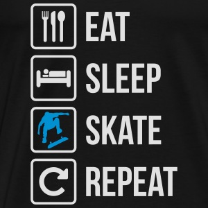 Eat Sleep Skateboard Repeat - Men's Premium T-Shirt