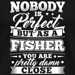 Funny Fishing shirt Nobody Perfect - Herre premium T-shirt