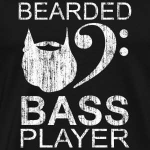 Bearded electric bass player gift