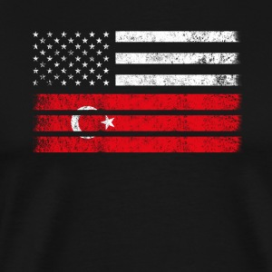 Turk American Flag - USA Turkey Shirt - Men's Premium T-Shirt