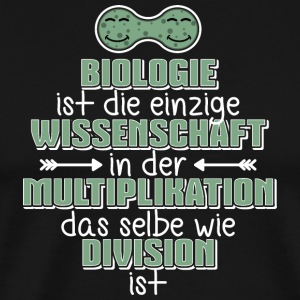 Biologie  Multiplikation = Division  Science - Männer Premium T-Shirt