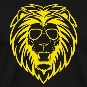 Lion with sunglasses - Men's Premium T-Shirt
