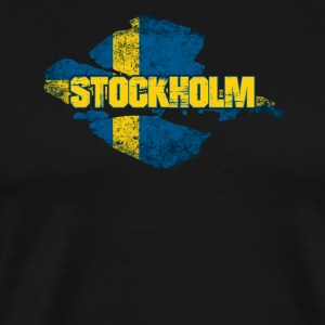 Stoccolma - Swedish Flag Sweden design - Maglietta Premium da uomo