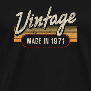 Vintage MADE IN 1971 - Männer Premium T-Shirt