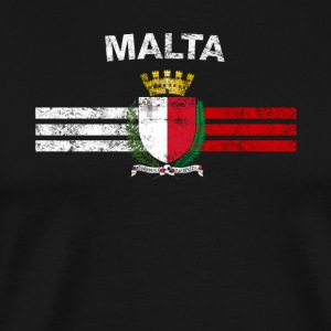 Maltese Flag Shirt - Maltese Malta Flag Badges & S - Mannen Premium T-shirt