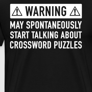 Funny Crossword Puzzle Gift Idea - Men's Premium T-Shirt