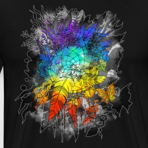 Dreamcatcher Rainbow Colors - T-shirt Premium Homme