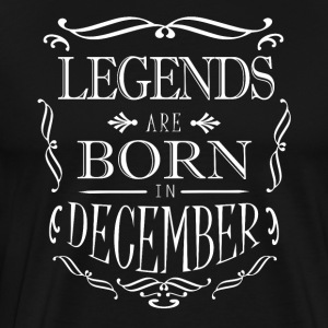 Legends föds i december - Premium-T-shirt herr