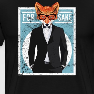 Cool for FOX SKYLD Funny ræv siger ironi - Herre premium T-shirt