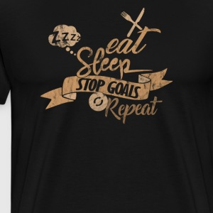 Lacrosse - Eat Sleep Stop Goals Repeat - Männer Premium T-Shirt