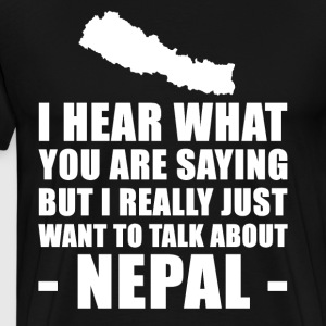 Funny Nepal holiday gift idea - Men's Premium T-Shirt