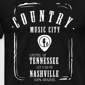 country music label whiskey guitar band musician - Men's Premium T-Shirt