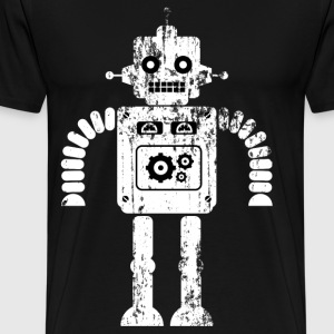 Robot Warrior - Premium T-skjorte for menn
