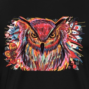 Owl Color Splash - Premium-T-shirt herr