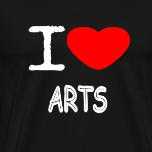 I LOVE ARTS - Premium T-skjorte for menn